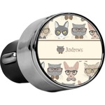 Hipster Cats USB Car Charger (Personalized)