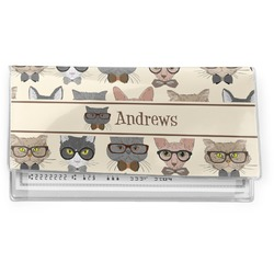 Hipster Cats Vinyl Check Book Cover (Personalized)