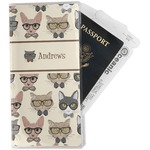 Hipster Cats Travel Document Holder