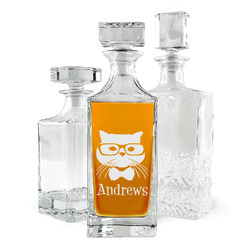 Hipster Cats Whiskey Decanter (Personalized)