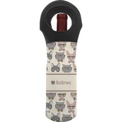 Hipster Cats Wine Tote Bag (Personalized)