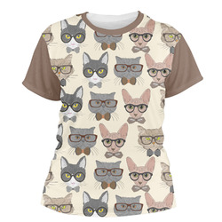 Hipster Cats Women's Crew T-Shirt (Personalized)