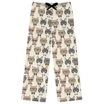Hipster Cats Womens Pajama Pants (Personalized)