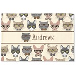 Hipster Cats Woven Mat (Personalized)