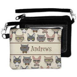 Hipster Cats Wristlet ID Case w/ Name or Text