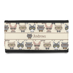 Hipster Cats Leatherette Ladies Wallet (Personalized)