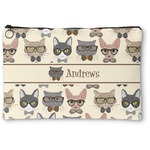 Hipster Cats Zipper Pouch (Personalized)
