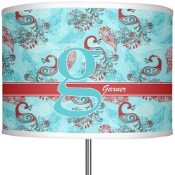 """Peacock 13"""" Drum Lamp Shade (Personalized)"""