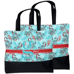 Peacock Beach Tote Bag (Personalized)