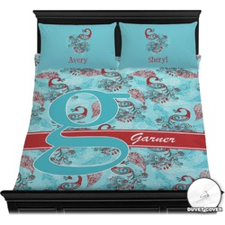 Peacock Duvet Cover Set (Personalized)