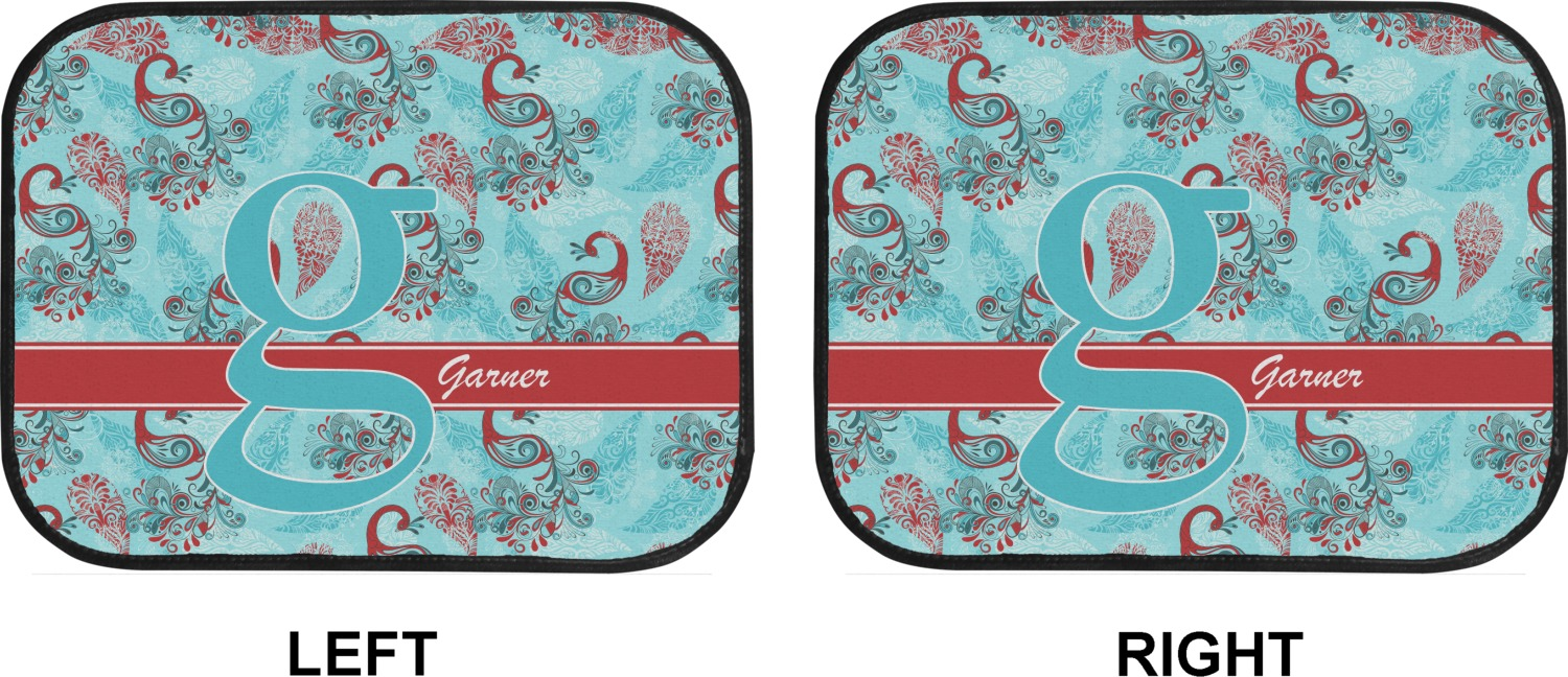 Peacock Car Floor Mats Back Seat Personalized Youcustomizeit