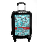 Peacock Carry On Hard Shell Suitcase (Personalized)