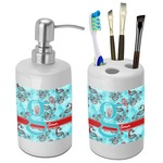Peacock Bathroom Accessories Set (Ceramic) (Personalized)