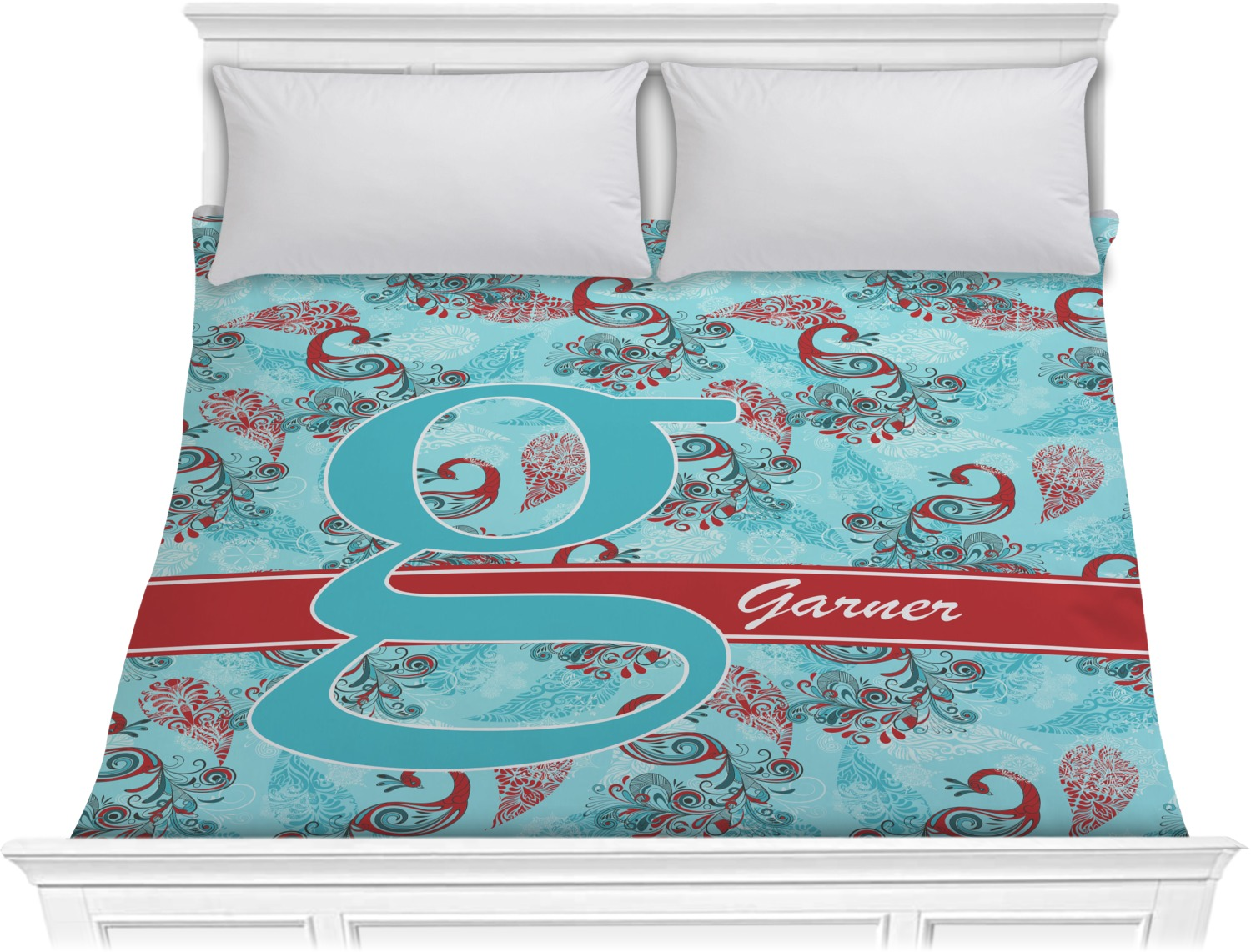 Peacock Comforter King Size: King (Personalized)