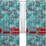 Peacock Curtains (2 Panels Per Set) (Personalized)