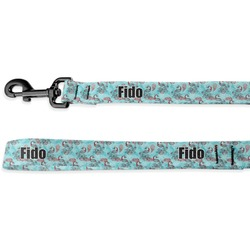 Peacock Deluxe Dog Leash (Personalized)