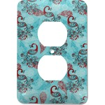 Peacock Electric Outlet Plate (Personalized)