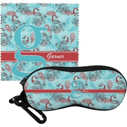 Peacock Eyeglass Case & Cloth (Personalized)