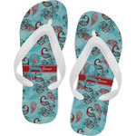 Peacock Flip Flops (Personalized)