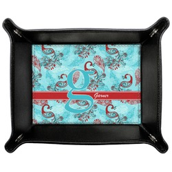 Peacock Genuine Leather Valet Tray (Personalized)