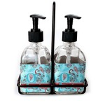 Peacock Soap & Lotion Dispenser Set (Glass) (Personalized)