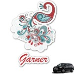 Peacock Graphic Car Decal (Personalized)