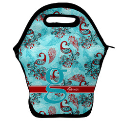 Peacock Lunch Bag w/ Name and Initial