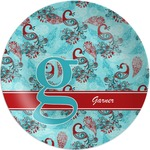 Peacock Melamine Plate (Personalized)