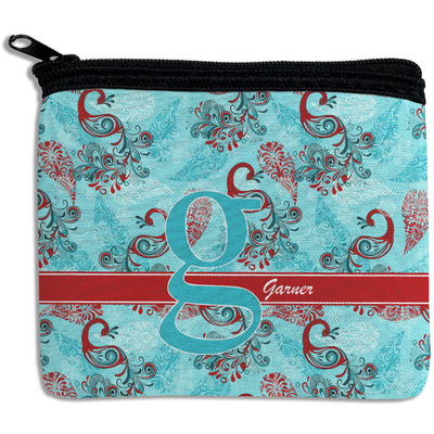 Peacock Rectangular Coin Purse (Personalized)