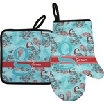 Peacock Oven Mitt & Pot Holder (Personalized)