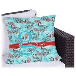"""Peacock Outdoor Pillow - 26"""" (Personalized)"""