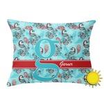 Peacock Outdoor Throw Pillow (Rectangular) (Personalized)