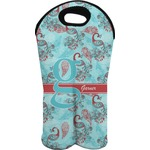 Peacock Wine Tote Bag (2 Bottles) (Personalized)