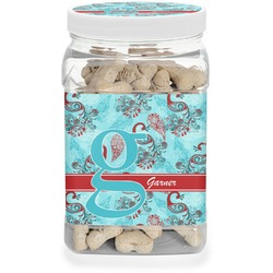 Peacock Pet Treat Jar (Personalized)