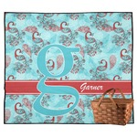 Peacock Outdoor Picnic Blanket (Personalized)