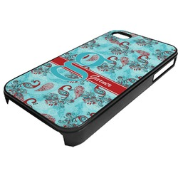 Peacock Plastic 4/4S iPhone Case (Personalized)