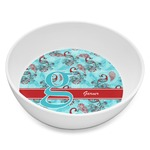 Peacock Melamine Bowl 8oz (Personalized)