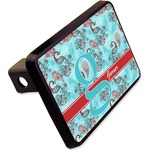 """Peacock Rectangular Trailer Hitch Cover - 2"""" (Personalized)"""