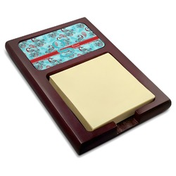 Peacock Red Mahogany Sticky Note Holder (Personalized)