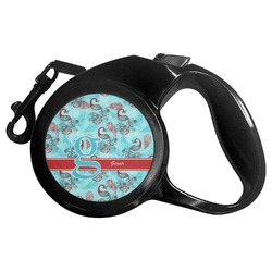 Peacock Retractable Dog Leash - Multiple Sizes (Personalized)