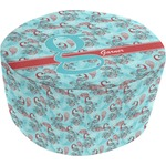 Peacock Round Pouf Ottoman (Personalized)