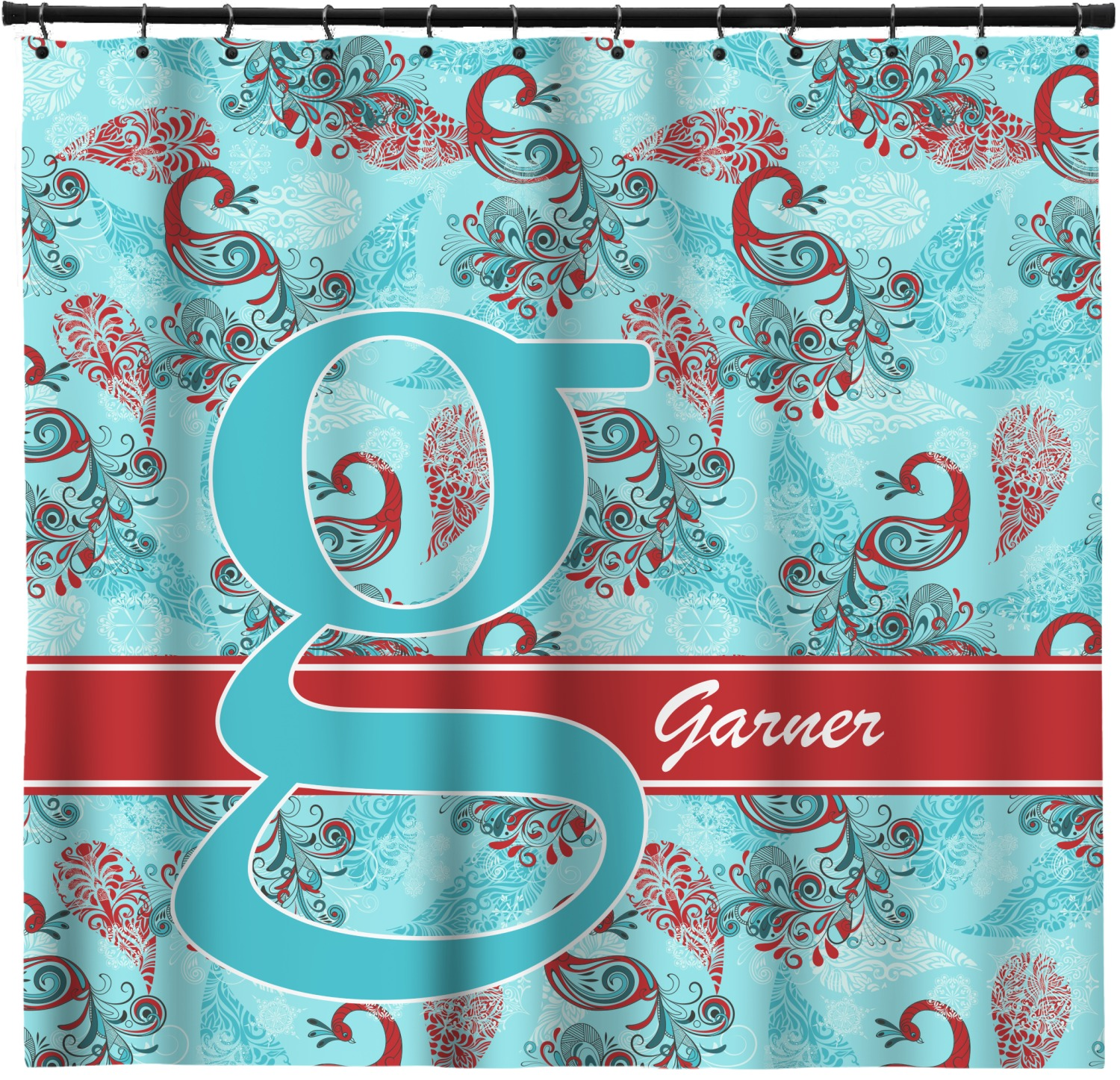 Peacock Shower Curtain Personalized