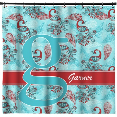 Peacock Shower Curtain (Personalized)