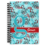 Peacock Spiral Bound Notebook (Personalized)