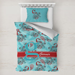 Peacock Toddler Bedding w/ Name and Initial