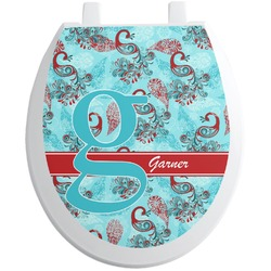 Peacock Toilet Seat Decal (Personalized)