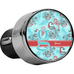 Peacock USB Car Charger (Personalized)