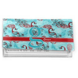 Peacock Vinyl Checkbook Cover (Personalized)