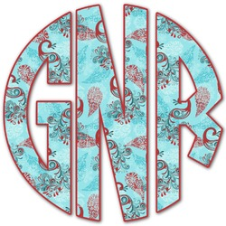 Peacock Monogram Decal - Small (Personalized)