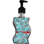 Peacock Wave Bottle Soap / Lotion Dispenser (Personalized)
